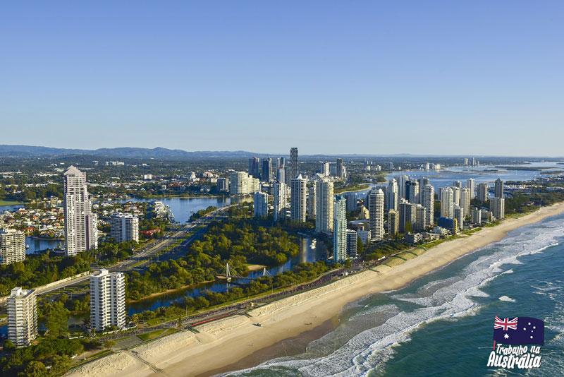 a melhor cidade da austrália para fazer intercâmbio - Gold Coast