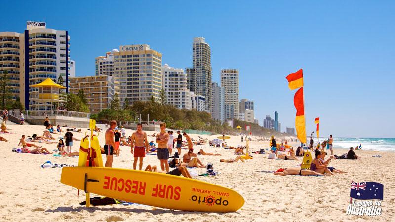 a melhor cidade da austrália para fazer intercâmbio - atrações de Gold Coast