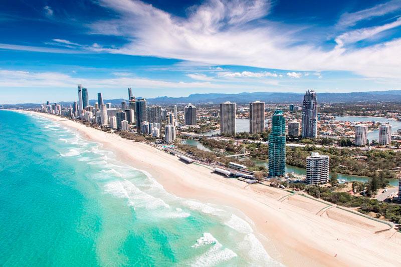 estudar e trabalhar na austrália - gold coast