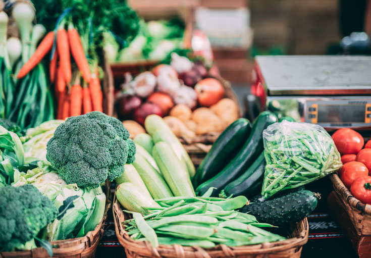 alimentos na mala - vegetais