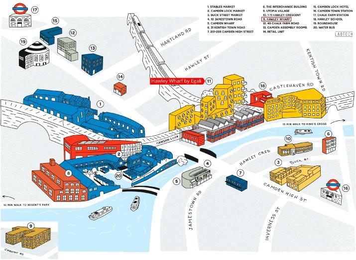Hawley Wharf - Mapa 2