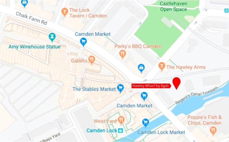 Hawley Wharf - Mapa 1