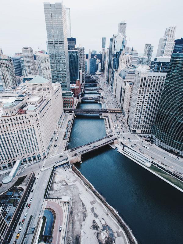 Viagens para os Estados Unidos saindo do Canadá - chicago