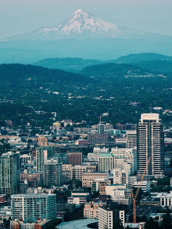Viagens para os Estados Unidos saindo do Canadá - Portland skyline