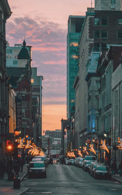 intercâmbio em Montreal - ruas