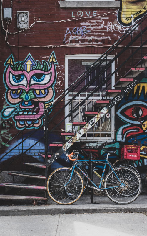 intercâmbio em Montreal - street art