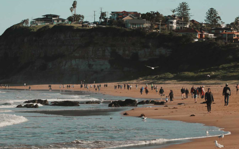 praias australianas para visitar virtualmente - Mona Vale