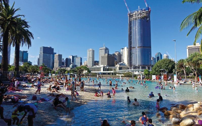 Intercâmbio em Brisbane - Praia artificial